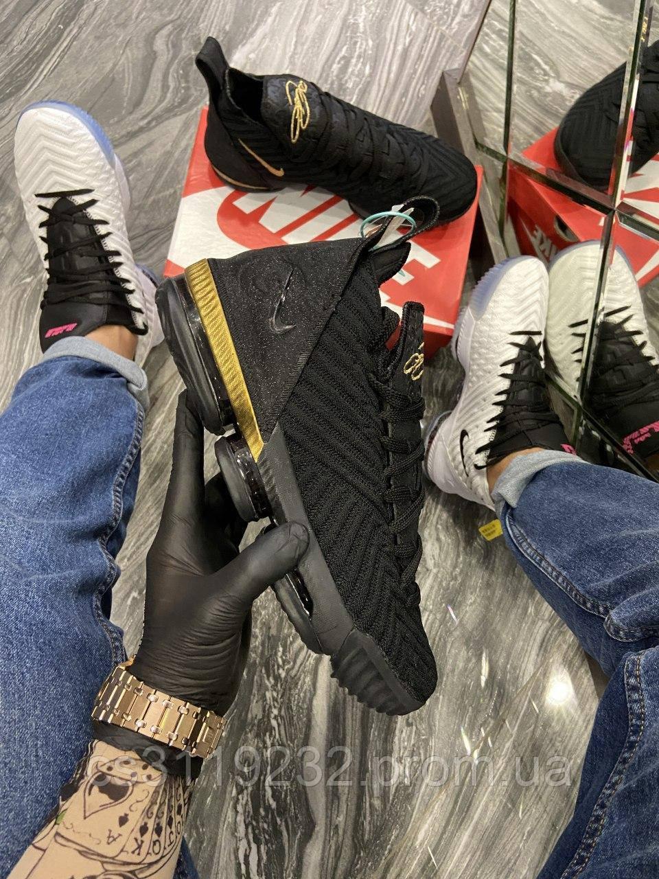 Мужские кроссовки Nike LeBrone 15 Black(черные)