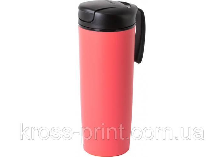 Термокружка пластикова з присоскою Optima PRIME 540 мл, червона