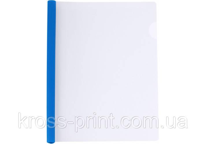 Папка А4 з планкою-затиском 6 мм (2-35 аркушів), синя