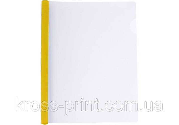 Папка А4 з планкою-затиском 6 мм (2-35 аркушів), жовта