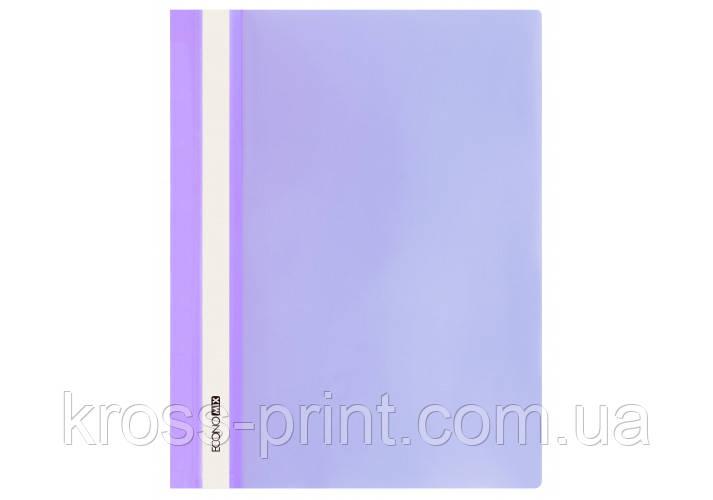 Папка-швидкозшивач глянець А4 без перфорації фіолетовий