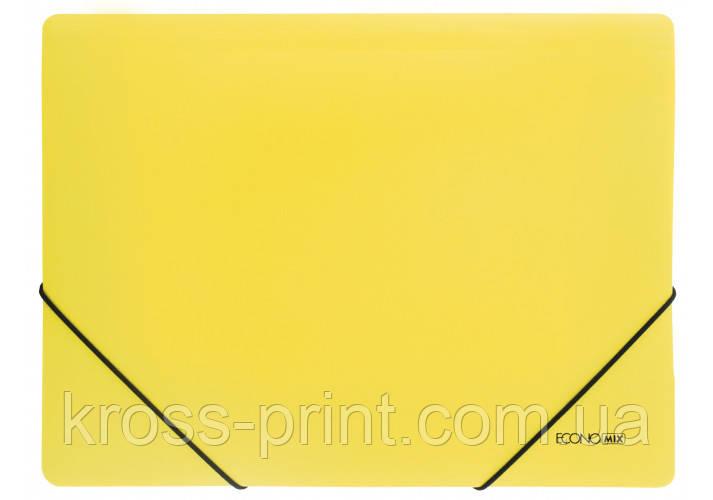 Папка А4 пластикова на гумках, кольорова