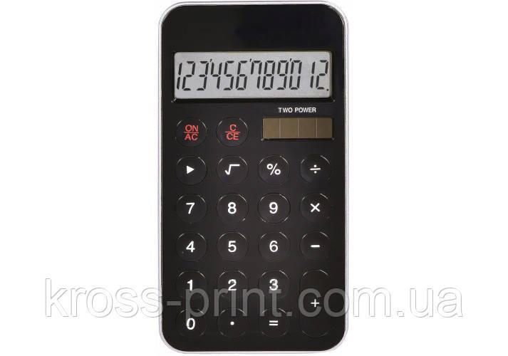 Калькулятор кишеньковий Optima 12 розрядів, розмір 115*58,5*9,6 мм, чорний