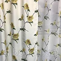 Комплект шторы и тюль в комнату спальню зал, тюль и шторы на кухню балкон, современные атласные шторы для, фото 3