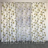 Комплект шторы и тюль в комнату спальню зал, тюль и шторы на кухню балкон, современные атласные шторы для, фото 2