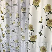 Комплект шторы и тюль в комнату спальню зал, тюль и шторы на кухню балкон, современные атласные шторы для, фото 4