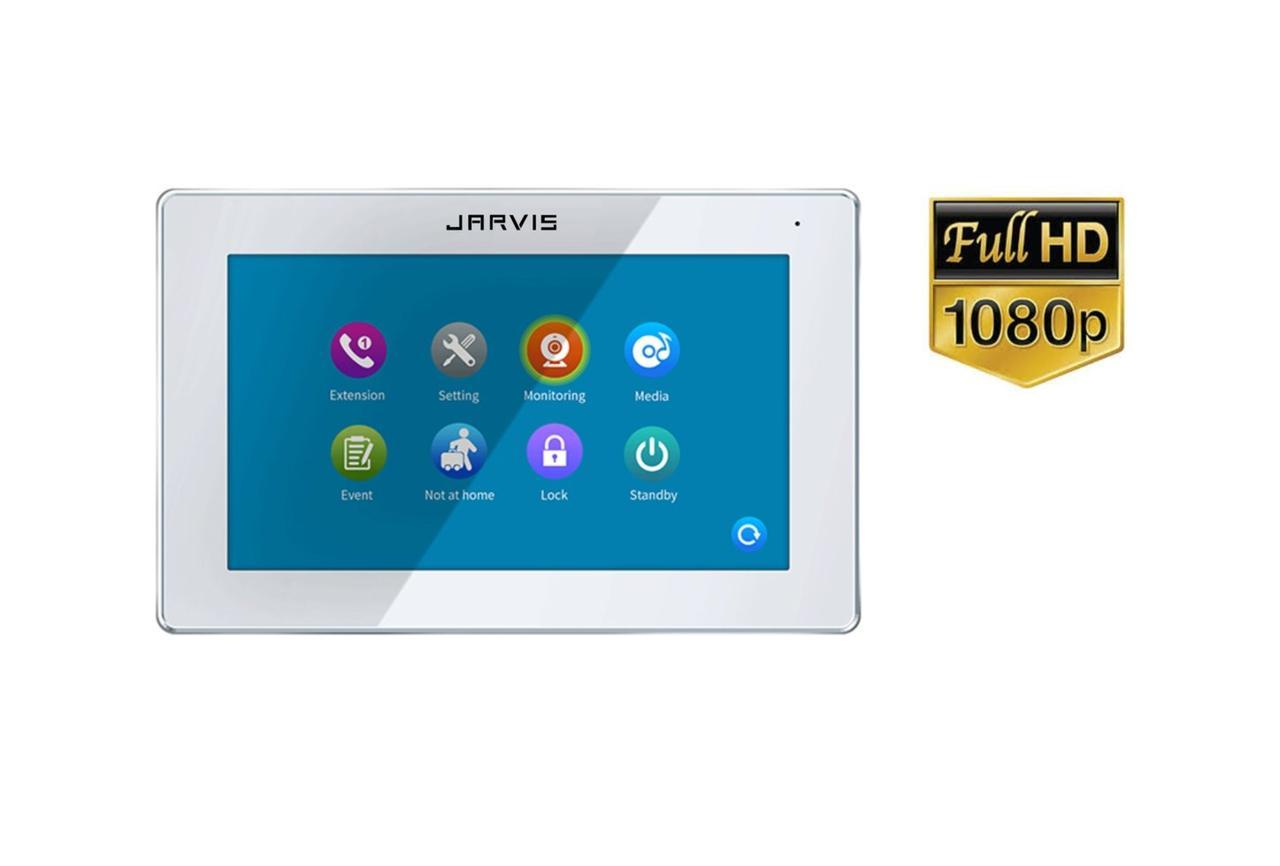 Touch Screen Full HD 1080P Відеодомофон з записом відео по-руху Jarvis JS-7TS FullHD