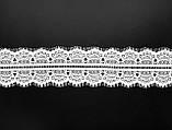 Ажурне французьке мереживо шантильї (з віями) білого кольору шириною 10,5 см, довжина купона 3,0 м., фото 2