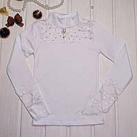 Блузка школьная для девочки со стойкой Размеры 128 134