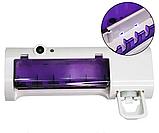 Диспенсер для зубной пасты ультрафиолетовый стерилизатор для щеток Toothbrush sterilizer JX008 W79, фото 3