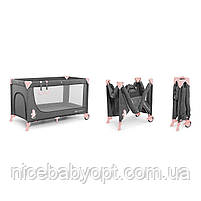 Кровать-манеж с пеленатором Kinderkraft Joy Pink, фото 6