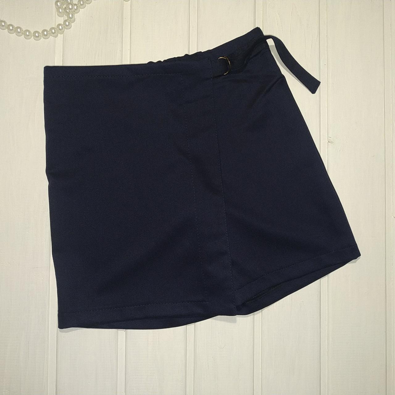 Юбка-шорты подростковые синие Размеры 128 140