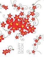 """Ежедневник не датированный  ART """"Цветы"""", 192 листа, 1В167, Аркуш"""