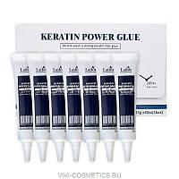 Сыворотка-клей для восстановления посеченных кончиков волос La'dor Keratin Power Glue, 15 g.
