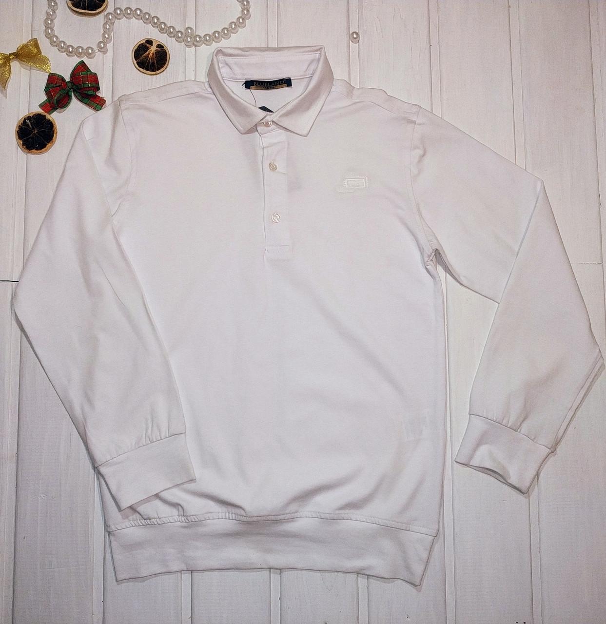 Джемпер поло для подростка белый Размеры 158