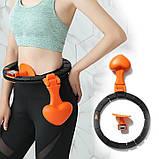 Обруч HULA Hoop LED (W76) / ХулаХуп / обруч для похудения не падающий, фото 8