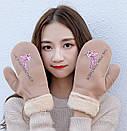 Оригинальные крутые варежки розовая пантера рукавички, фото 2