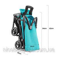 Прогулочная коляска Kinderkraft Mini Dot Turquoise, фото 10