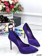 Туфли лодочки фиолетовые 28088