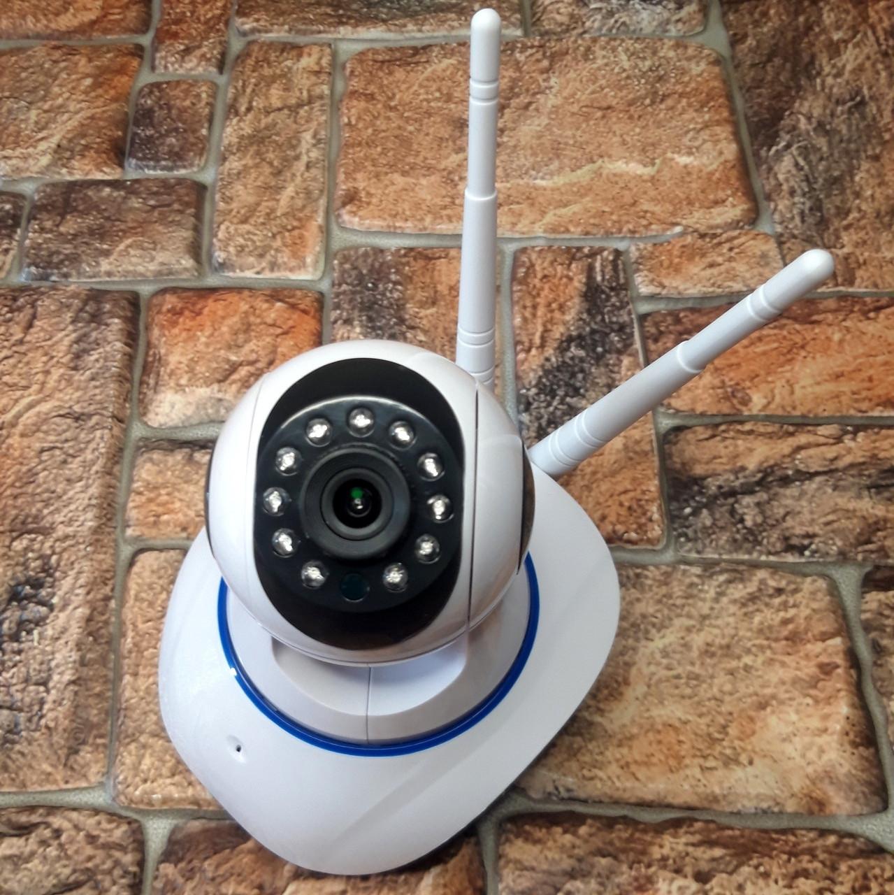 Поворотная IP-камера видеонаблюдения видеоняня Smart Camera Q5 Wi-Fi, управление через телефон (живые фото)