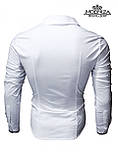 Чоловіча біла сорочка приталеного крою, фото 5