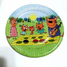 Тарілки паперові дитячі три кота 10 шт.