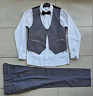 Школьный комплект для мальчика 8-12 лет серый, фото 1