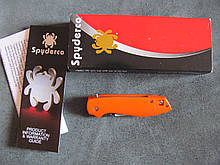 "Spyderco C195GPOR Brad Southard Positron Flipper 3.01"" CPM-S35VN Satin"