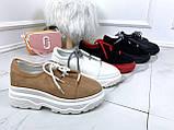 Туфли броги бежевые 27949, фото 2