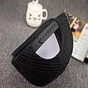 Кепка снепбек Сетка с прямым козырьком Черная 2, Унисекс, фото 5