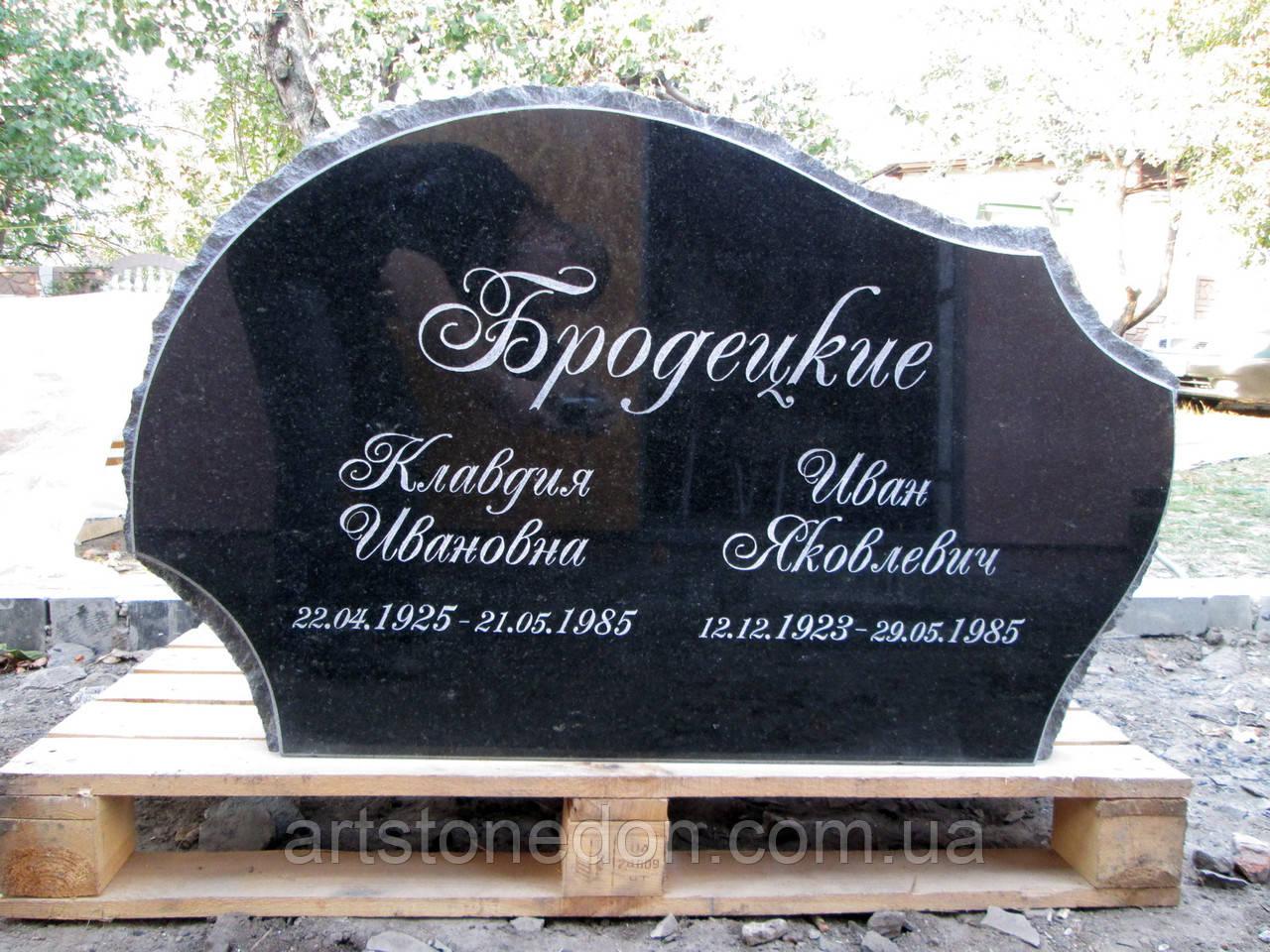 Памятник двойной из гранита Скала