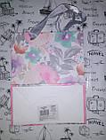 """Пакет подарочный 8298-S """"Акварельные цветы"""", 18х23х10см бумажный, с глиттером 210г/м2 уп12, фото 3"""