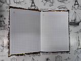 Блокнот А6, клеточка, 56 страниц ., паетки-перевертыши  117820, фото 3
