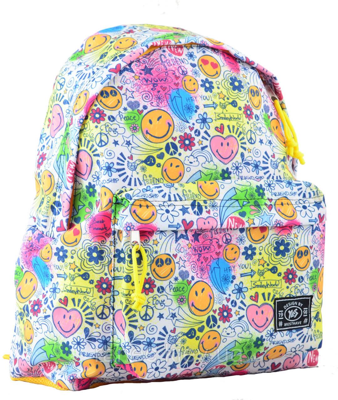 Рюкзак молодежный ST-17 Crazy smile, 42*32*12 554984