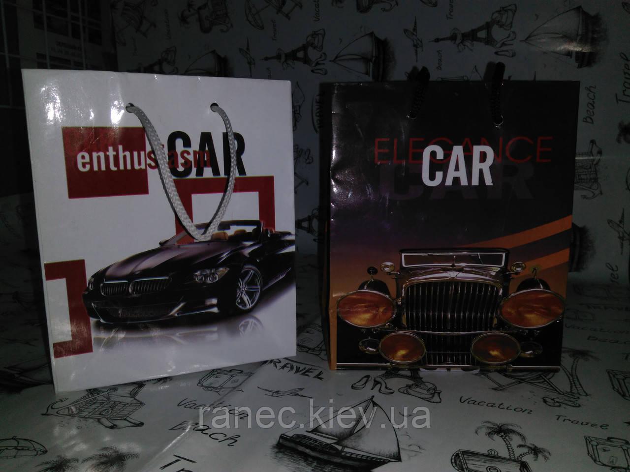 """Пакет  подарочный """" Car """" 2 вида  12*15*5 см    07412"""