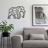 "Декор для стен. Панно из металла ""Слон"""