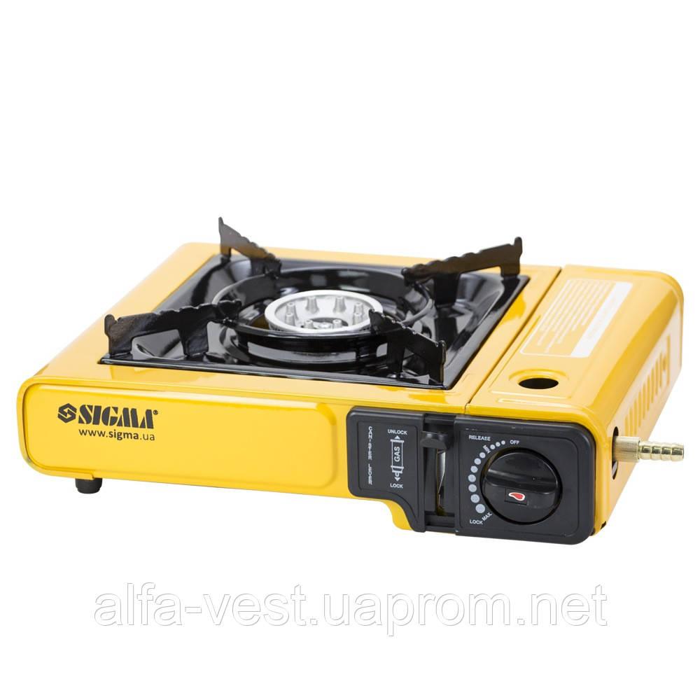 Купить Плита газовая одноконфорочная с пьезоподжигом и адаптером (кейс) SIGMA (2903431)
