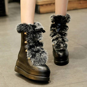 Женские ботинки кролик2