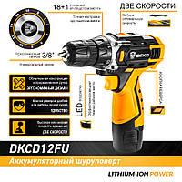 Аккумуляторный шуруповёрт DEKO 12В DKCD12FU-LI