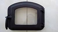 Чугунная печная дверка со стеклом 415х330мм