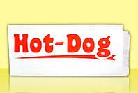 Уголок для хот-дога с печатью 210х85х0 (Белый крафт)