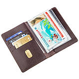 Большая обложка на водительские документы SHVIGEL 13986 Коричневая, фото 3