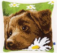 """Набор для вышивки крестом """"Подушка """"Шоколадный лабрадор"""" (Chocolate Labrador Cushion)"""