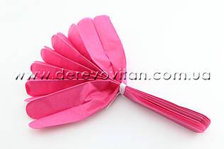 Помпон из тишью, ярко-розовый, 35 см