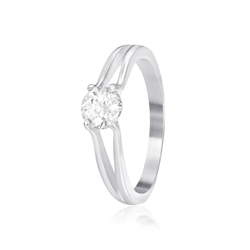 Серебрянное кольцо родированное - К2С/704-16,5