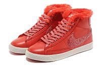 Зимние женские ботинки Nike (Найк) WMNS BLAZER MID Leather (blaz_wmns_02)