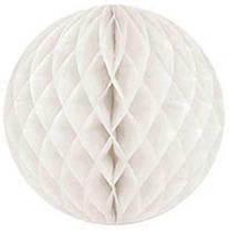 Бумажный шар-соты, молочный, 15 см
