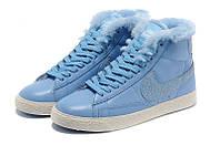 Зимние женские ботинки Nike (Найк) WMNS BLAZER MID Leather (blaz_wmns_03)