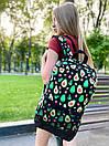 """Рюкзак унісекс чорного кольору з кольоровим принтом """"Авокадо"""", фото 5"""