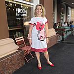 Платье белое нарядное хлопок купон сукня  жіноча біла   Пл 022 Dress white cotton, фото 5